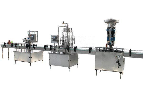 Stroj za polnjenje in označevanje z litrsko stekleničko v litrski steklenici
