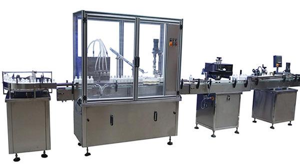 Avtomatski stroj za polnjenje in označevanje s steklenicami