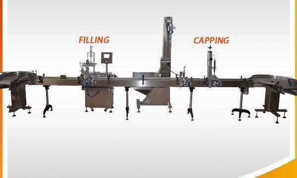Stroj za polnjenje rastlinskega jedilnega olja