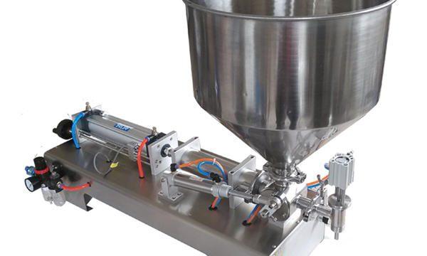 Polavtomatski stroj za polnjenje medu s steklenimi batami