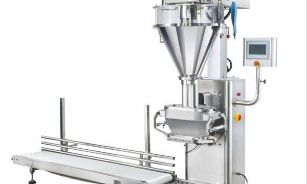 Polavtomatski stroj za polnjenje mleka v prahu