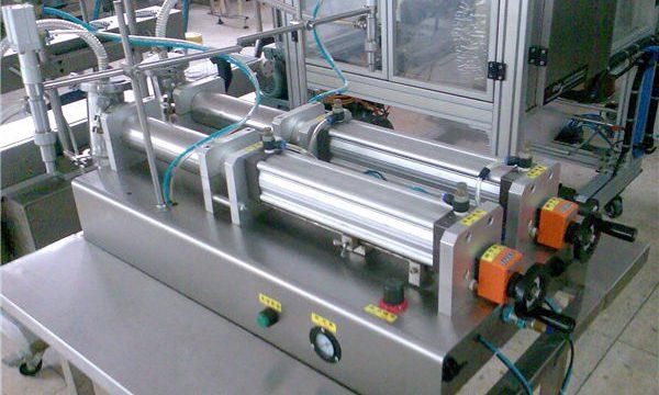 Kvalitetni stroj za polnjenje tekočih šamponov z dvojnimi šobami