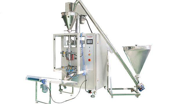 Navpični avtomatski avtomat za polnjenje in zapiranje v prah